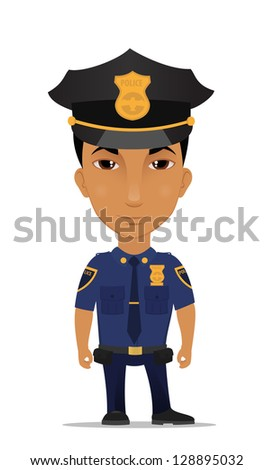police officer - stock vector