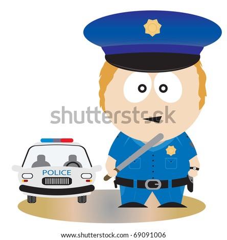 Police Officer. Vector illustration - stock vector