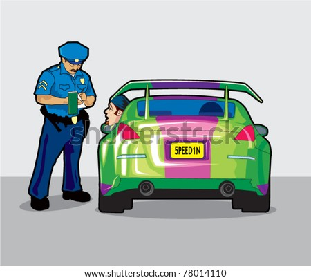 Police Pullover - stock vector