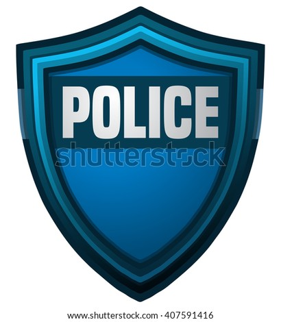 Police Shield, Vector Illustration isolated on White Background. - stock vector