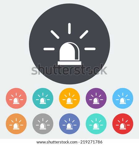 Police. Single flat icon on the circle. Vector illustration. - stock vector