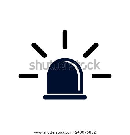 Police, warning flashing light, vector illustration - stock vector