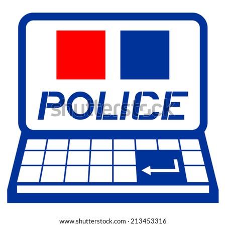 Police web - stock vector