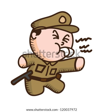 policeman cartoon - stock vector