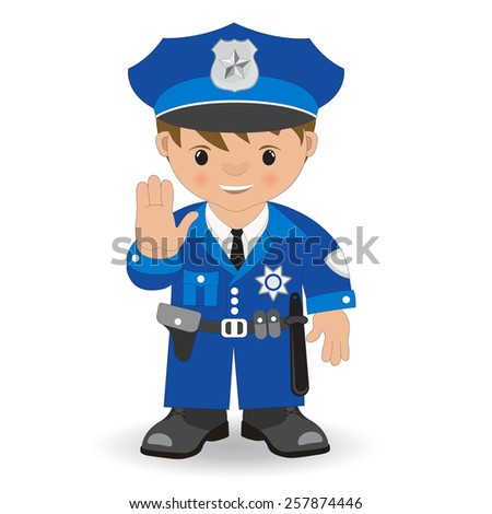 policeman hand stop - stock vector