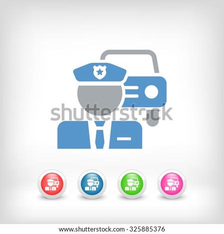 Policeman icon - stock vector
