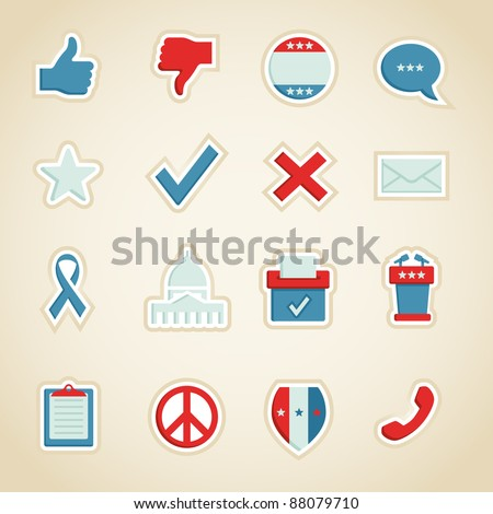 Political Icons - stock vector