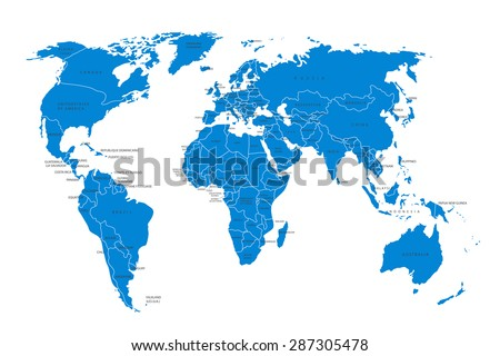 Political map world blue world mapcountries stock vector hd royalty political map of the world blue world map countries vector illustration gumiabroncs Images