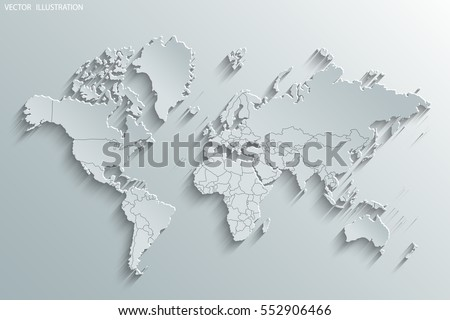 Image Vector World Map Stock Vector Shutterstock - Earth map countries