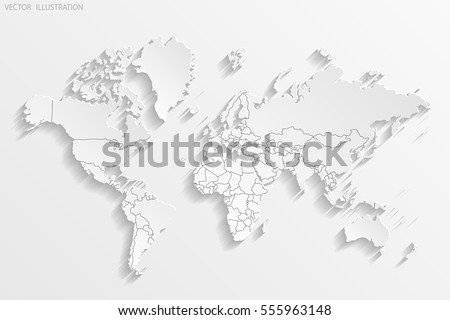 Political map world white world mapcountries vectores en stock political map of the world white world map countries paper vector illustration gumiabroncs