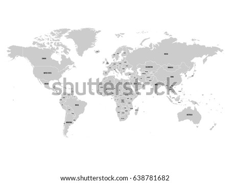 Political map world antarctica grey land stock photo photo vector political map of world with antarctica grey land white borders on white background gumiabroncs Image collections