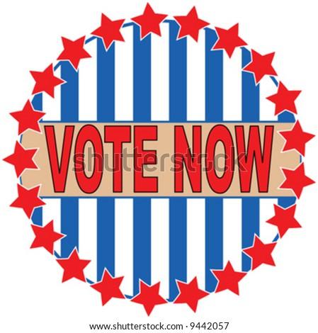 Political voting logo pin vector - stock vector