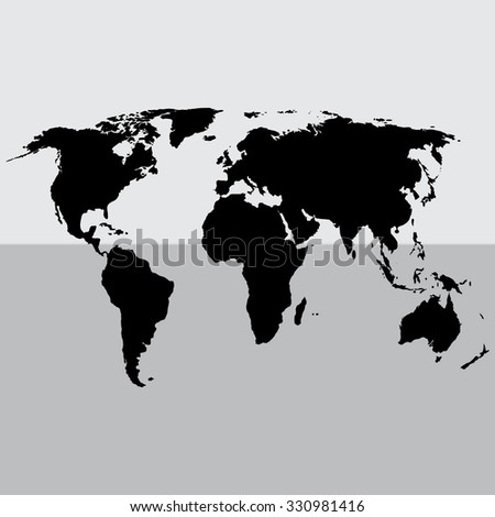 Political World Map Illustration - stock vector