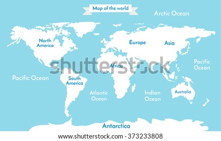 Political world map illustration blue world stock vector 2018 political world map illustration blue world map vector world map illustration on soft blue gumiabroncs Images
