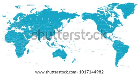 Eurasia europa russia china india indonesia stock vector 725108440 political world map pacific centered vector gumiabroncs Images