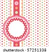 Polka dot design frame - stock vector