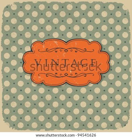 Polka dot design, vintage styled background. - stock vector