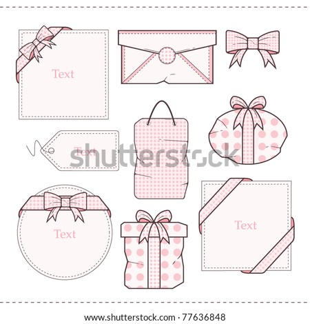 Polka Dot Gift  vector Set