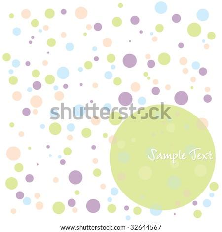 Polka Dot Greeting - stock vector