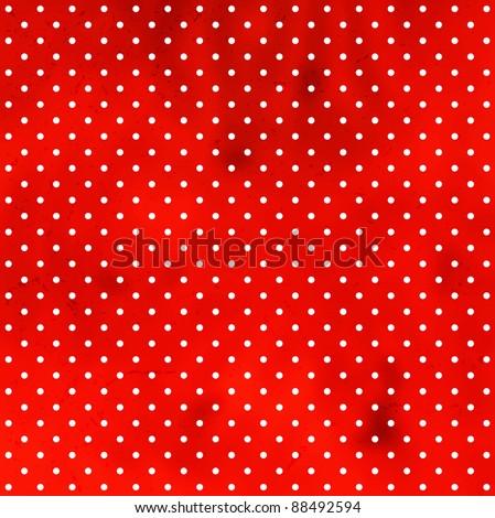 Polka dot grungy pattern - stock vector