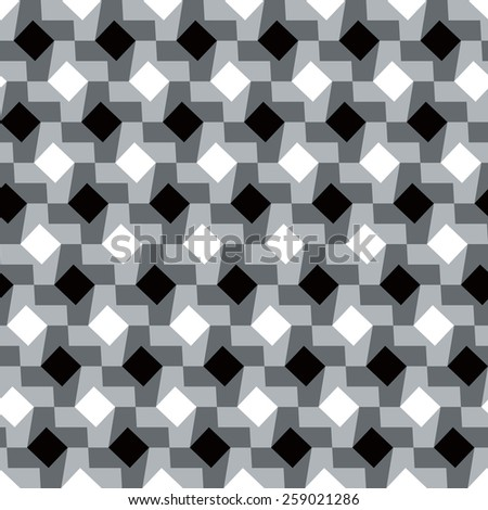 Polka Dot Houndstooth pattern in grey repeats seamlessly. - stock vector