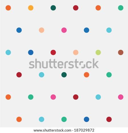 polka dot pattern - stock vector