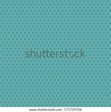 Polka dot retro pattern - stock vector