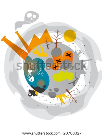 pollution - stock vector