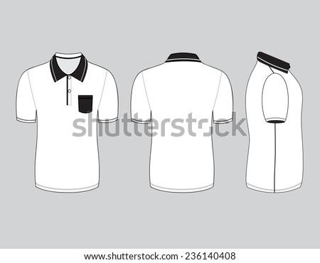 polo shirt design templates front back stock vector 236140408
