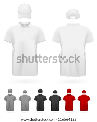 Polo shirt uniform template. - stock vector