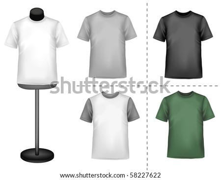 Polo shirts with mannequins. Vector. - stock vector