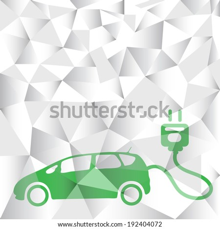 polygon Electric car technology concept - stock vector