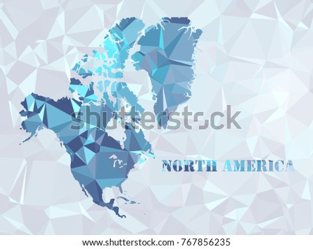 Polygon North America Map Geometric Color Stock Vector - Make points on a map