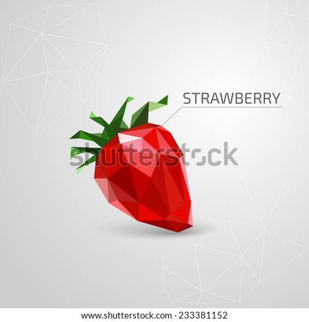 Polygon strawberry. Vector illustration - stock vector