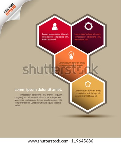 Polygon vector infographic / can use for brochure - stock vector