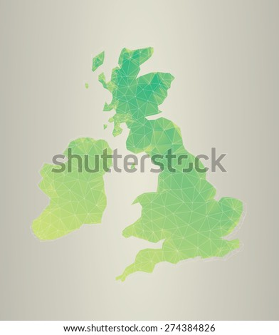 Polygon vector of the British Isles