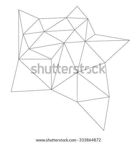 Polygonal Abstract Background . Geometric Line  Shape . Connection Structure . Molecular Concept Background . Technology Vector Background . - stock vector