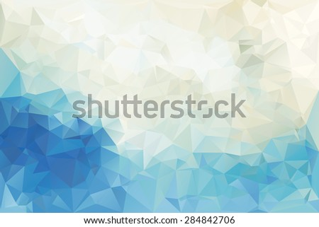 Polygonal Abstract Background Vector Illustration - stock vector