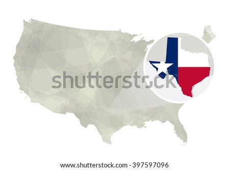 Vector Map Texas Stock Vector Shutterstock - Us map texas vector