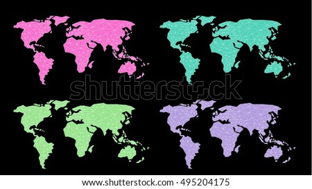 Polygonal abstract world map triangle line stock vector 495204175 polygonal abstract world map triangle line stel colorvector illustation gumiabroncs Image collections