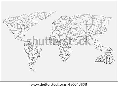 Polygonal abstract world map vector illustration stock vector polygonal abstract world map vector illustration gumiabroncs Images