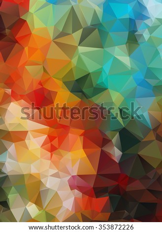 Polygonal background. Composition with triangles geometric shapes. vector - stock vector