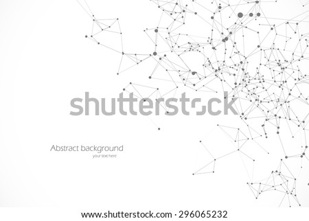 Polygonal background, technology design, dot clusters - stock vector