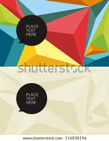 Polygonal color texture - stock vector