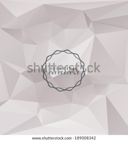 Polygonal design-Abstract geometrical background  - stock vector