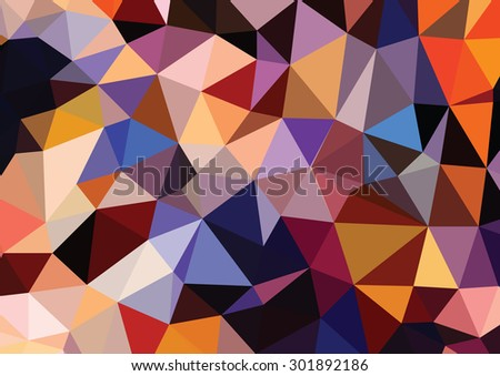 Polygonal Mosaic Background, Vector illustration