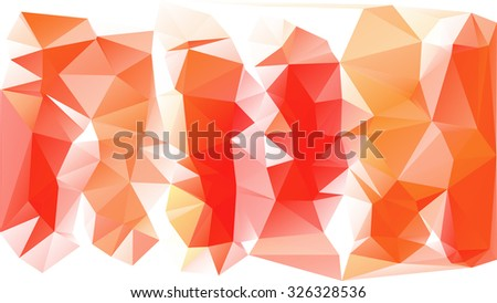 Polygonal Mosaic Background, Vector illustration, Creative Business Design Templates - stock vector