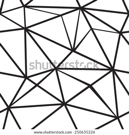 Polygonal seamless pattern. Vector background. - stock vector