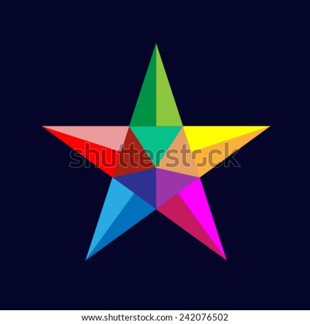 Polygonal star - stock vector