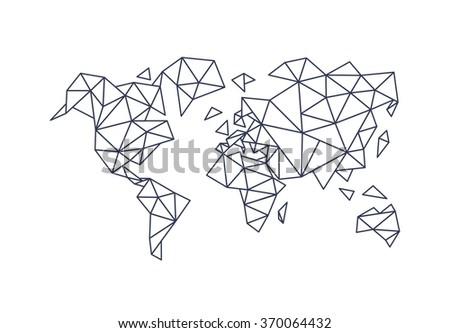 Polygonal triangle world map vector de stock370064432 shutterstock polygonal triangle world map gumiabroncs Gallery